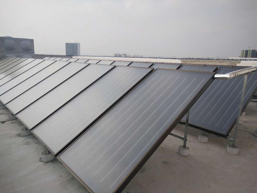 美鹏机械公司员工宿舍太阳能配空气能热水工程