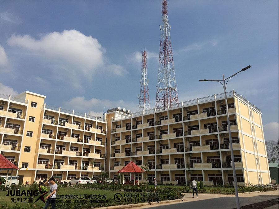 柬埔寨木牌娱乐公司宿舍热水工程